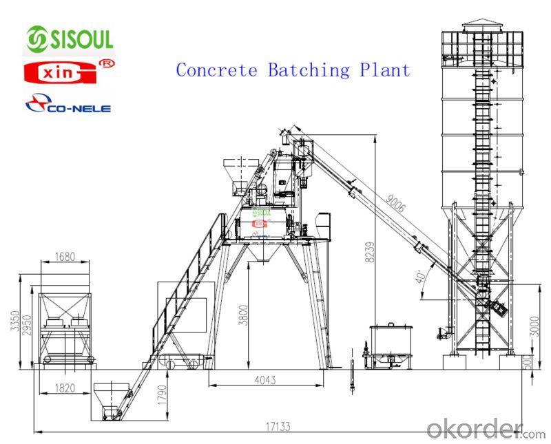 HZS90 concrete batching plant Mixing Plant