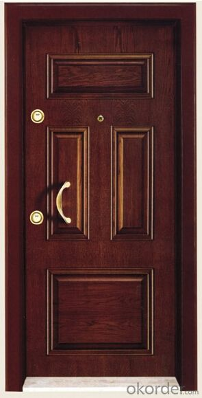 Hot Sale Italy Style Steel Wooden Armored Doors