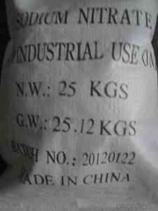 SODIUM NITRATE  INDUSTRY GRADE POWDER 99.3%