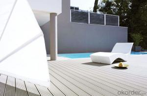 Wood Plastic Composite Solid decking with wood grain