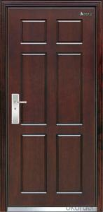 single leaf fireproof steel security door