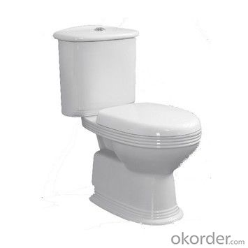 S-trap 150 mm roughing-in washdown two-piece hospital toilet/bathroom vitreous ceramic toilet