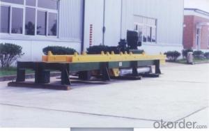Hydraulic stepping machine of brick making production line