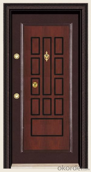 Turkey Style Steel Wooden Armored Doors with Good Prices