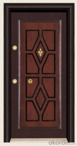 Hot Sale Turkey Style Steel Wooden Armored Door