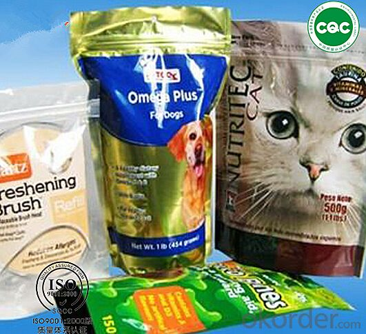 Pastic bag printing pet food package printed bags