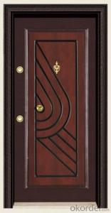 Turkey Style Steel Wooden Armored Doors for Buildings