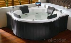 Deluxe hydro massage useful well great design acrylic bathtub