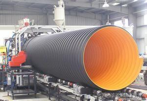 HDPE Corrugated Pipe Drainage Conduit With Steel Belt Reinforced