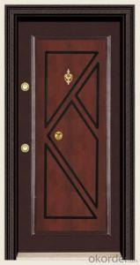 High Quality Turkey Style Steel Wooden Armored Doors