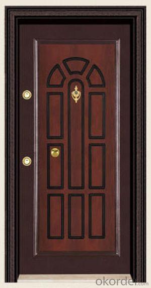 Turkey Style Steel Wooden Armored Doors in Standard Sizes
