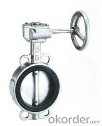 DN350 Turbine Type Butterfly Valve with Hand wheel BS Standard