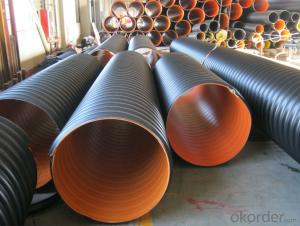 hdpe corrugated pipe steel wire reinforced pe pipe