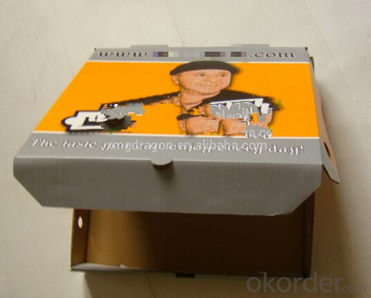 OEM logo E flute rectangle disposable white custom corrugated cheap food package