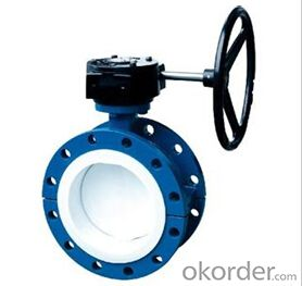 DN600 Turbine Type Butterfly Valve with Hand wheel BS Standard