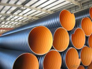 large diameter steel reinforced corrugated polyethylene pipe