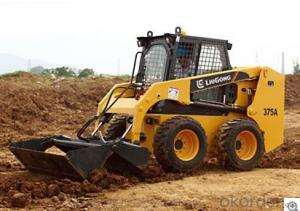 Skid Steer Loader CLG375AIII,Simple dual hand control system