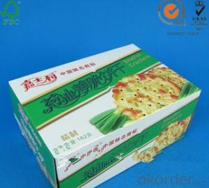 colorful prining customized usful paperboard food package