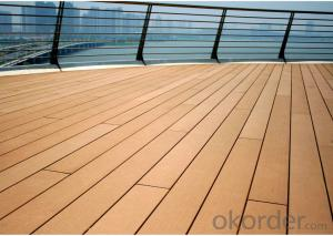 Wood Plastic Composite Solid Decking for prefect project