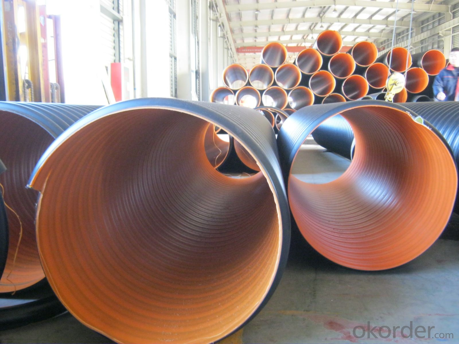 Buy pvc pipes steel band reinforced corrugated pipe with for Buy plastic pipe