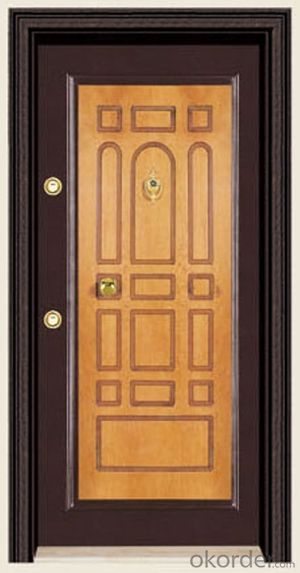 Turkey Style Steel Wooden Armored Doors with Different Designs