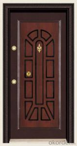 Standard Turkey Style Steel Wooden Armored Doors for Houses