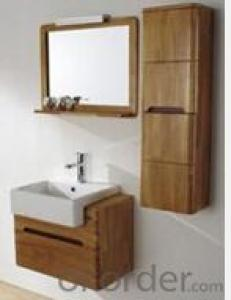 modern soild wood bathroom cabinet used in bathroom
