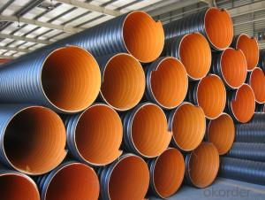 corrugated steel band reinforced pe pipe with competitive price