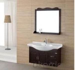 modern soild wood bathroom cabinet used in bathroom