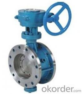 DN100 Turbine Type Butterfly Valve with Hand wheel BS Standard