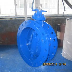 GGG40 Double Flange Eccentric Butterfly Valve
