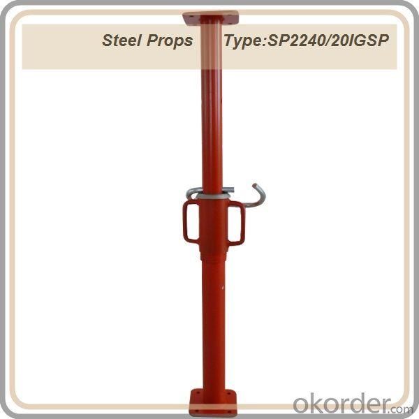 Export Steel Props /painted surface steel prop / telescopic steel prop / red color prop 2.2-4M