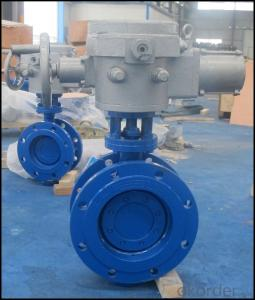 D943H Double Flange Three Eccentric Electric Butterfly Valve