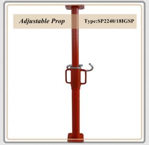 Export Adjustable Props /painted surface steel prop / telescopic steel prop / red color prop 2.2-4M