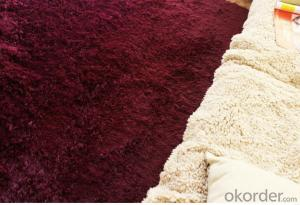 Carpet Polyester Shaggy Carpet / Rug factory