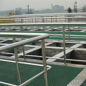 FRP grating high loaded strength slip resistance sewage floor