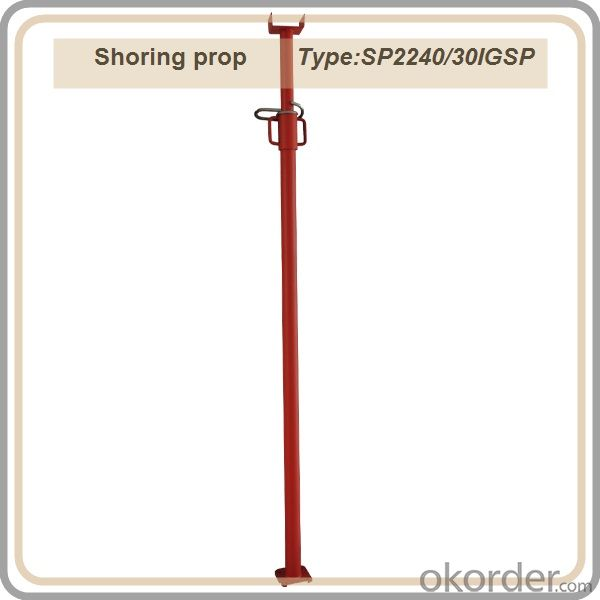 Shoring prop / telescopic steel prop / red color prop 2.2-4M