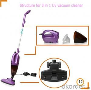 multifunction handheld vacuum cleaner with UV light