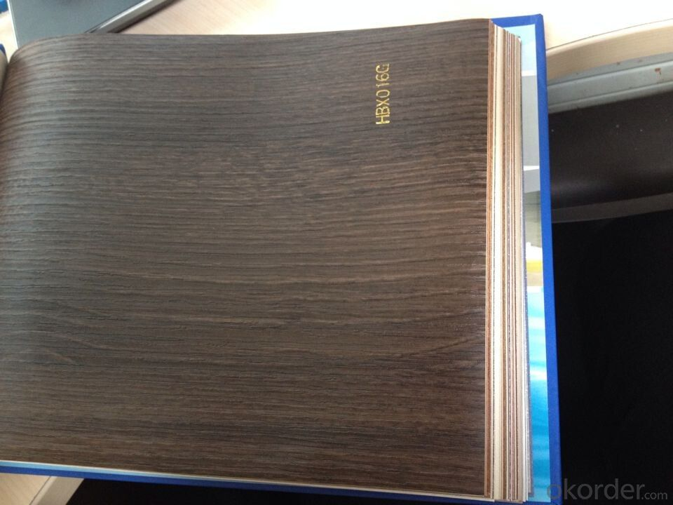 PVC Wood Grain Decorative and Matter Surface Film HBX016G