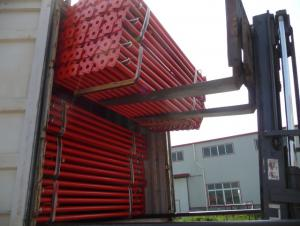 Export Scaffold props / telescopic steel prop / blue color prop 2.2-4M/thickness 2.5mm