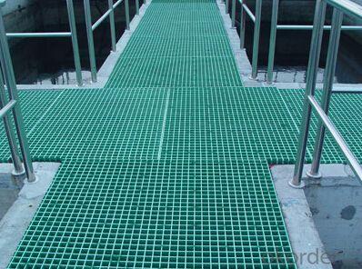 Sewage floor FRP grating  slip resistance