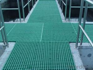 FRP grating floor die outside pave sand superior slip resistance for sewage