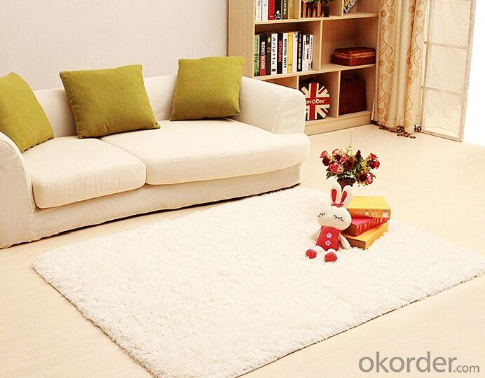 Carpet 3D Handmade Striped Carpets and Rugs Silk Polyester