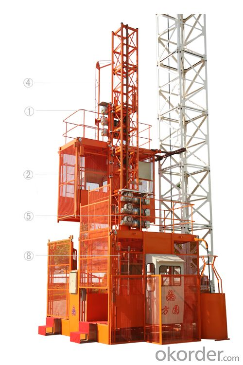 FUXIANG  SCD200/200 Construction Hoists