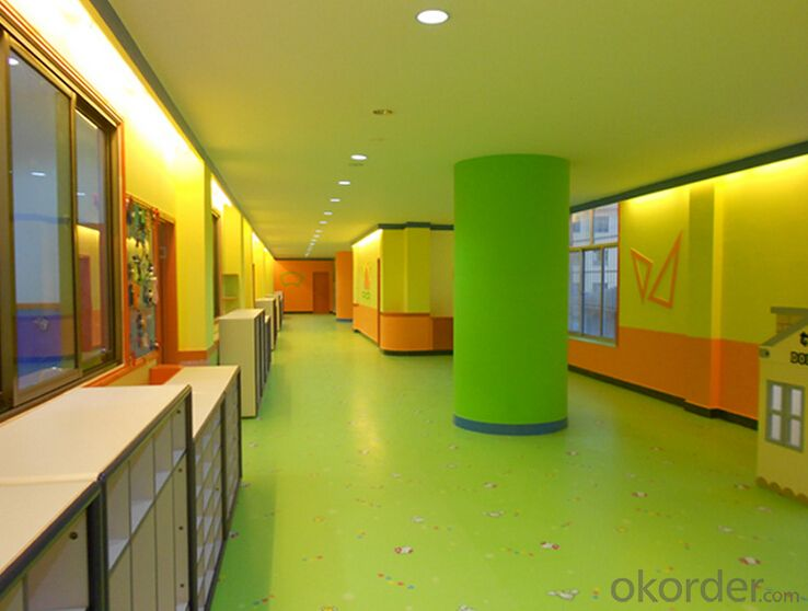 solid color pvc flooring for children / Pure Color Cmmercial Vinyl Flooring