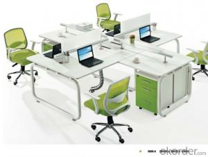 Modern Wood MDF Melamine/Glass Office Table/Desk CN500