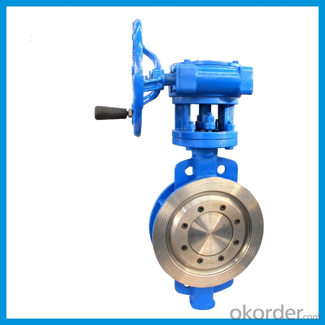 Wafer Type Eccentric Butterfly Valve With PTFE Sealing