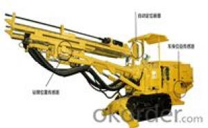 Hydraulic roof support key machine for longwall mining method