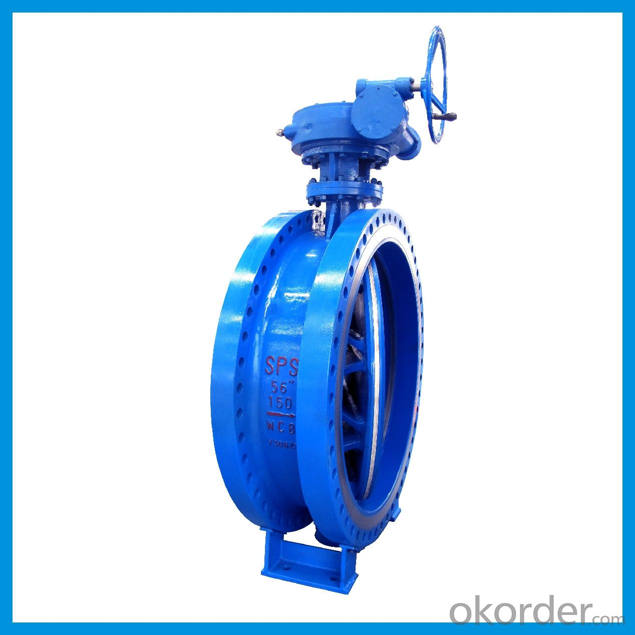 API Standard Double Flange Eccentric Butterfly Valve From DN40---DN3200