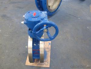 JIS Standard  10 K Butterfly Valve With Double Flange